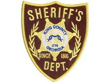 The walking Dead ecusson brodé du Sheriff Rick Grimes King County sheriff patch