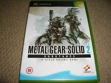 METAL GEAR SOLID 2 SUBSTANCE - MICROSOFT XBOX ORIGINAL Boxed Game Disc Instructi