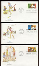 #2961-5 32c Recreational Sports FDC's set of 5 with Fleetwood Cachets FD279