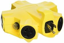 Yellow Jacket 27362 Outdoor 15-Amp Power Strip Adapter 5-Outlet Plug Electric Pl