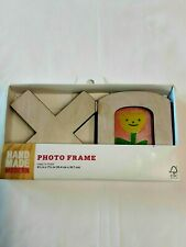 """Hand Made Modern Photo Frame """"Xo"""" Pic Size 4 1/8"""" X 7 3/8"""" Brand New In Package!"""