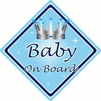 Non Personalised Child//Baby On Board Car Sign ~ Nephew On Board ~ D.Blue