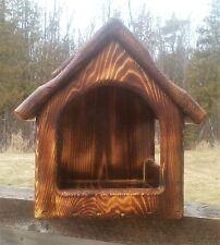 Decoratve handmade, cedar wood Dove or Robin nesting shelf, The Birds Nest #1