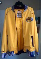 MITCHELL & NESS LOS ANGELES LAKERS 2XL Gold Vintage Full Zip Jacket LEBRON KOBE