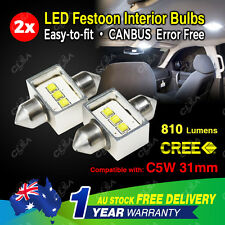 2PCS 31mm CANBUS CREE Festoon LED Car Interior Dome Map Courtesy Light Bulb Car