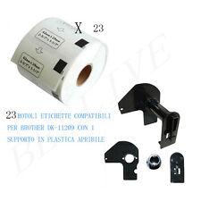 23 Etichette per Brother DK-11209 29mmX62mm QL-500A QL-550 QL-560 QL-570 QL-500