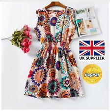 Summer Mini Beach Dress Vestidos Print Casual Ladies Female Bohemian Dress