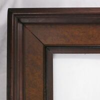 "ANTIQUE FITS 13.5"" X 19.5"" PICTURE FRAME FINE ART WALNUT WOOD COUNTRY DEEP COVE"