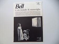 advertising Pubblicità 1962 TELEVISORE BELL TELEPHONE