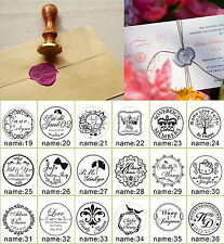 1Pcs Custom Made Personalized Name&Date Wedding Invitation Card Wax Seal Stamp