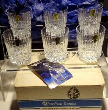 6 WATERFORD CRYSTAL MAEVE TRAMORE OLD FASHIONED GLASSES ~ ORIGINAL BOX~ IRELAND