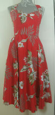 Hell Bunny Vixen Red Floral Print Cotton 50s Style Rockabilly Dress Size XL
