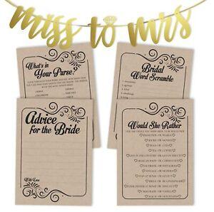 Inkdotpot Bridal Shower Games Set Of 4(50 Sheets Each) w / Miss-w4C