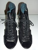 "Brand New  WITTNER  ""Mars""  Black Lace Up Peeptoe Heels Size 41 (Aus 9) -"
