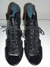 "Brand New  WITTNER  ""Mars""  Black Lace Up Peeptoe Heels Size 41 (Aus 9) -"