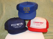 Washington VT Snapback 3 Hats Ed's Repair Shop Troy-Bilt Beede VT Nut & Bolt