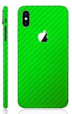 3D Textured Carbon Skin Cover Sticker Decal Vinyl Wrap For Apple iPhone X 10
