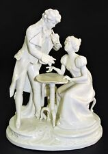 "Ernst Bohne Rudolstadt Dresden White Porcelain Figurine ""Biedermeier Couple"""