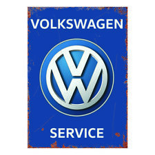 More details for vw volkswagen service metal sign garage retro man cave