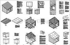 10' x 12' Classic Storage Shed Plans, Lean To #D1012L, Material List Included