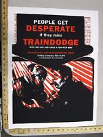 Rock Roll Concert Poster Traindodge The Life & Times Zach Hoppes S/N LE #50