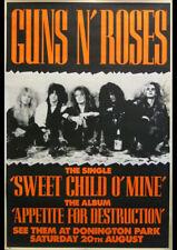 GUNS N ROSES - DONNINGTON PARK WORLD TOUR - SLASH - AXL ROSE - DUFF PRINT POSTER