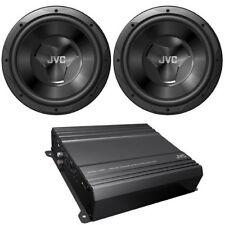 "JVC CS-PK2120 500W Amplified Dual 12"" Subwoofer Car Audio Bass Package"