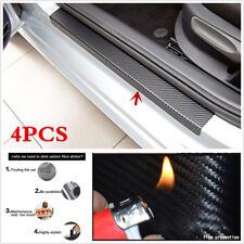 4PCS Carbon Fiber Anti-kick Car Door Plate Door Sill Scuff Plate Pretect Sticker