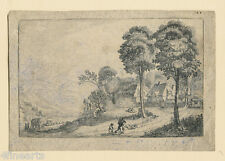 Jan van de VELDE (1593-1641) - Engraving - Landscape - Dutch