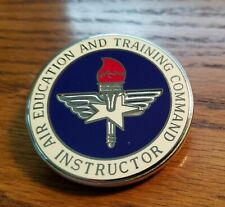 Air Education &Training Command Instructor Badge, Back Stamped V-21
