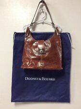 Dooney Bourke Purse Handbag Leather Brown Reptile Embossed With Dust Bag H19