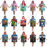 CHARACTER KIDS PONCHO TOWELS - DISNEY PRINCESS, PAW PATROL, LEGO, PEPPA & MORE