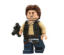 LEGO STAR WARS MINFIGURE HAN SOLO WITH BLASTER WAVY HAIR DEATH STAR 75159