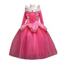 DreamHigh Sleeping Beauty Princess Aurora Party Girls Costume Dress Size 9-10