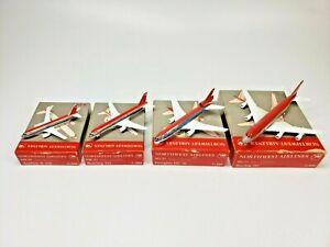 Northwest Airlines Fleet of 4 Boeing Airbus Douglas Schabak 1:600 scale models
