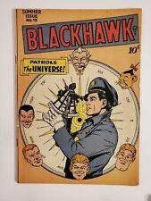BLACKHAWK #15 (VG+ 4.5) 1947 SUMMER ISSUE! GOLDEN AGE COMIC MAGAZINES