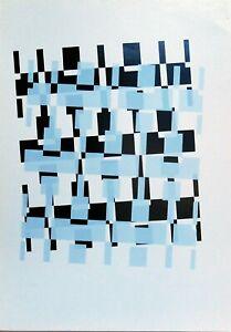 Renato Spagnoli serigrafia 1973 A come Alfabeto rif 3  50x34 firmata numerata