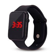 Unisex Digital LED Sports Watch Silicone Band Wrist Watches Men Children Fashion
