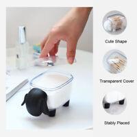 Mini Plastic Storage Box Cotton Swab Sheep Dust-proof Cosmetic Desktop Organizer