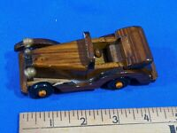 "Vintage Wooden Toy Model Car Antique-Style-Auto Early 5"" Rare Convertible #2"