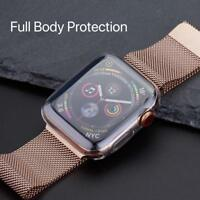 Apple Watch Series 5/4 44mm Full 360° Clear Gel Silicone Case Cover Protector UK