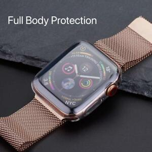Apple Watch Series 6/5/4 44mm Full 360° Clear Gel Silicone Case Cover Protector