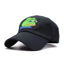 Pepe Baseball Cap Hip-Hop Strapback Sad Frog Meme Snapback Visor Hat Adjustable