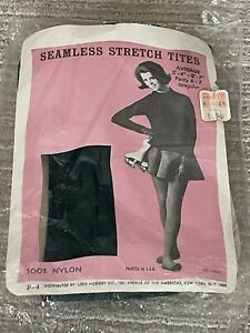 Vintage NOS 1950s Seamless PANTYHOSE Tights GREEN