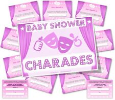 Baby Shower Party Games     BABY SHOWER CHARADES     Girl / Pink theme