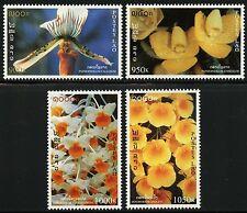 Laos Lao 1998 Orchideen Orchids Blumen Flowers Blüten Blossoms 1639-42 MNH