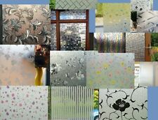 SAMPLES Graceful Frosted & 3D Static Glass Decorative Vinyl Privacy Window Films