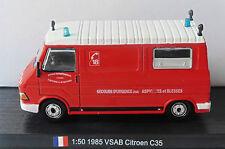 CAMION CITROEN C35RD PICOT VSAB SDI YONNE 1985 DELPRADO 1/50 POMPIER C35 RD FIRE