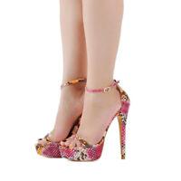 Onlymaker Women High Heel Stiletto Sandals Platform Pumps Ankle Strap Sexy Shoes