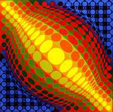"""""""ENIGMAS"""" Rare Mint Framed Serigraph s/n By Victor Vasarely"""